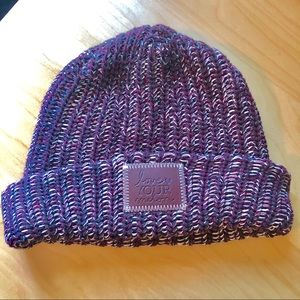 Maroon Love Your Melon Capped Beanie